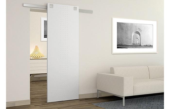 Puerta interior blanca corredera